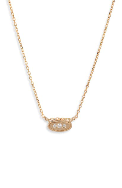 Jennie Kwon Designs Diamond Pendant Necklace In Yellow Gold