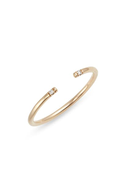 Jennie Kwon Designs Diamond Open Band Ring In Yellow Gold