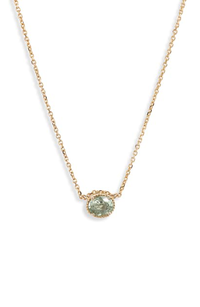 Jennie Kwon Designs Sapphire Pendant Necklace In Yellow Gold