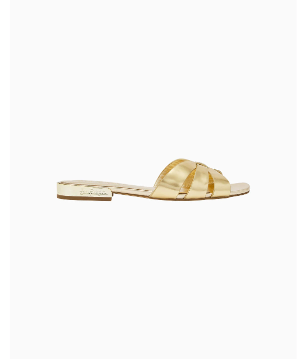 Lilly Pulitzer Whitley Slide Sandal In Gold Metallic