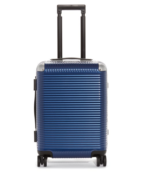 Fabbrica Pelletterie Milano Bank Light Spinner 53 Trunk Suitcase In Blue