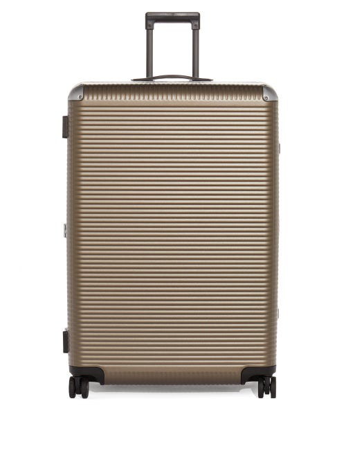 Fabbrica Pelletterie Milano Bank Light Large Trunk Suitcase In Brown