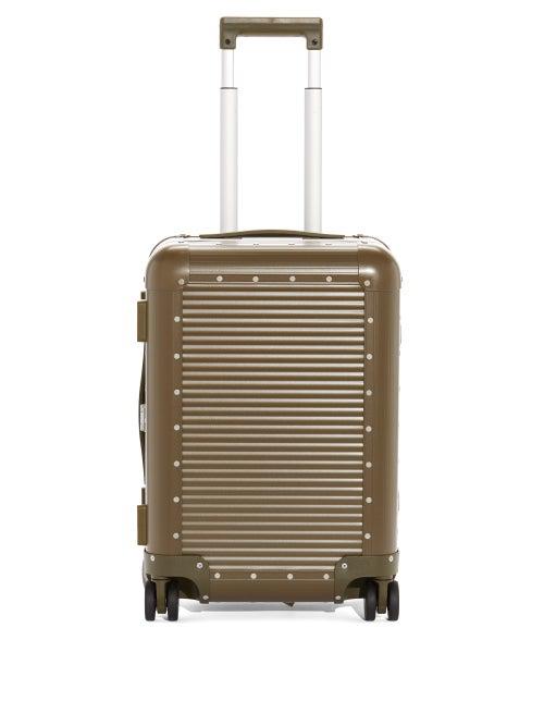 Fabbrica Pelletterie Milano X Nick Wooster Bank Spinner 53 Cabin Suitcase In Khaki