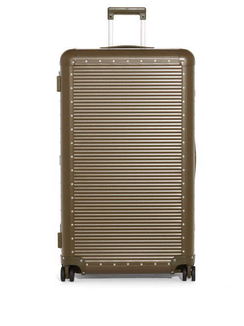 Fabbrica Pelletterie Milano X Nick Wooster Bank Spinner 68 Check-in Suitcase In Khaki