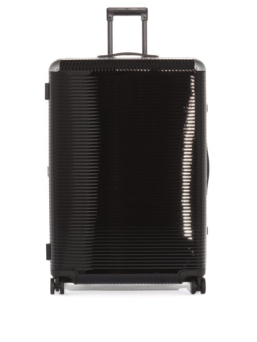 Fabbrica Pelletterie Milano Bank Light Large Trunk Suitcase In Black