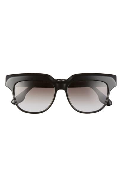 Victoria Beckham 54mm Gradient Square Sunglasses In Black