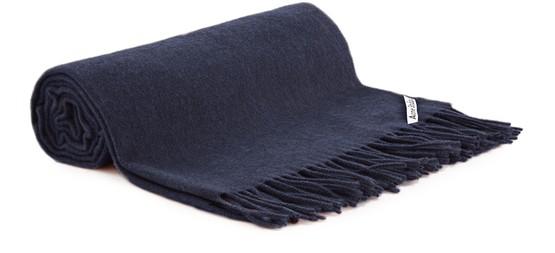 Acne Studios Canada Fringed Wool Scarf In Navy/blue