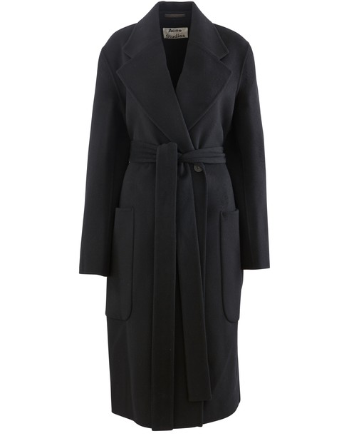 Acne Studios Double-wool Belted Coat Black