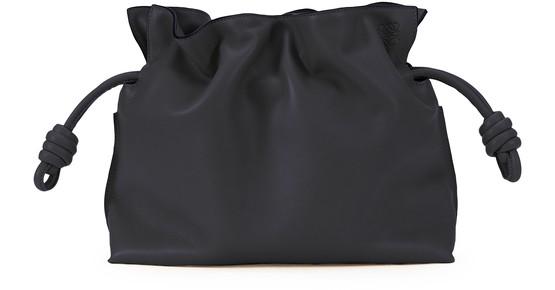 Loewe Flamenco Knotted Crossbody Bag In Black