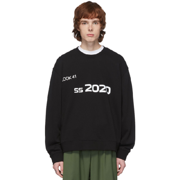 Xander Zhou Black 2020 Sweatshirt In White/black