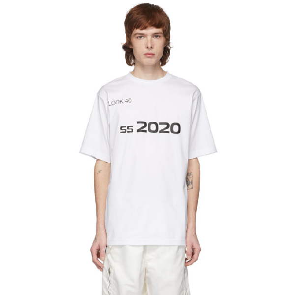 Xander Zhou White And Black 2020 T-shirt In White/black