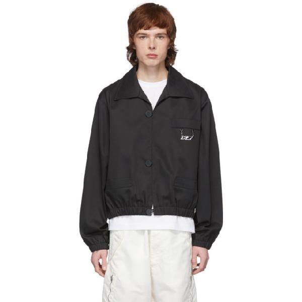 Xander Zhou Black Cuffed Jacket