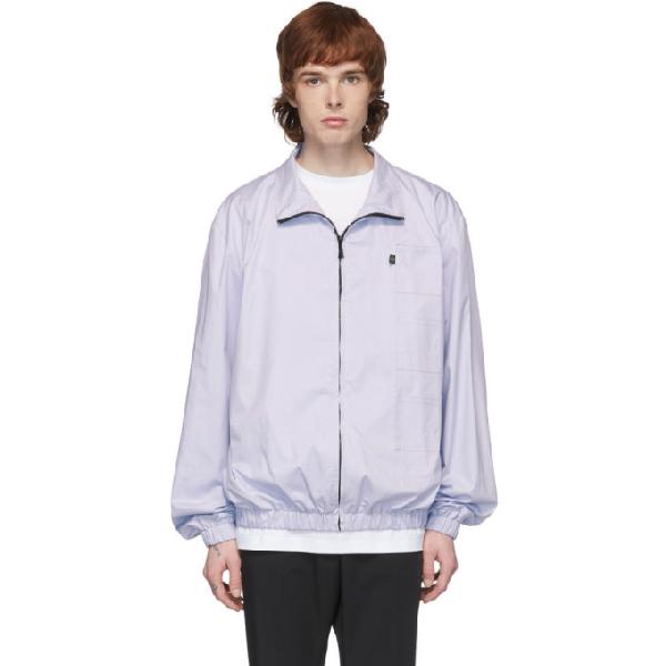 Xander Zhou Blue 3 Patch Jacket In Pastel Blue