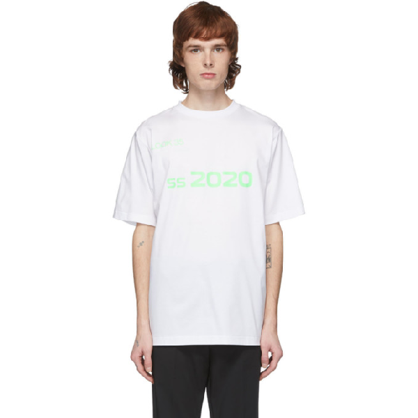 Xander Zhou White And Green 2020 T-shirt In White/green