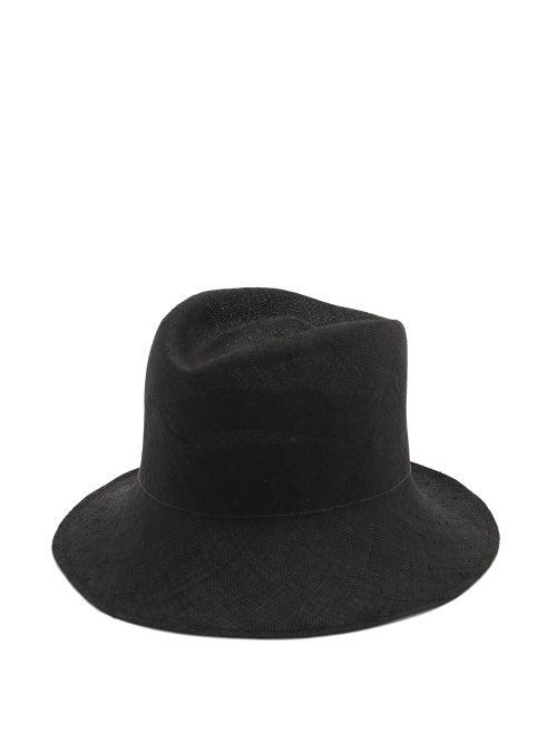 Reinhard Plank Hats Contadino Woven Straw Hat In Black