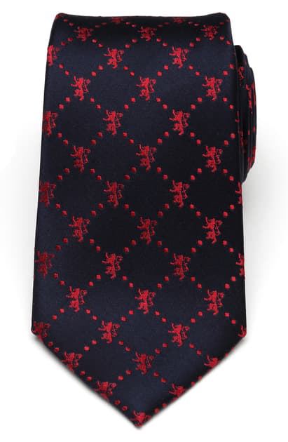 Cufflinks, Inc Lannister Lion Silk Tie In Navy