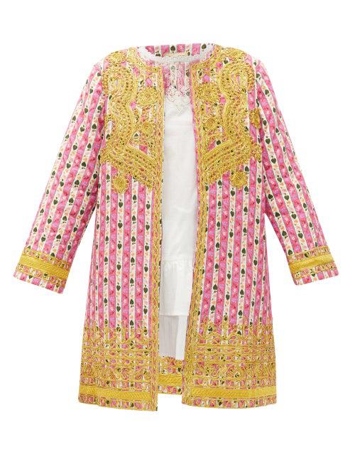 Muzungu Sisters Ankita Botanical-print Organic-cotton Jacket In Pink Print