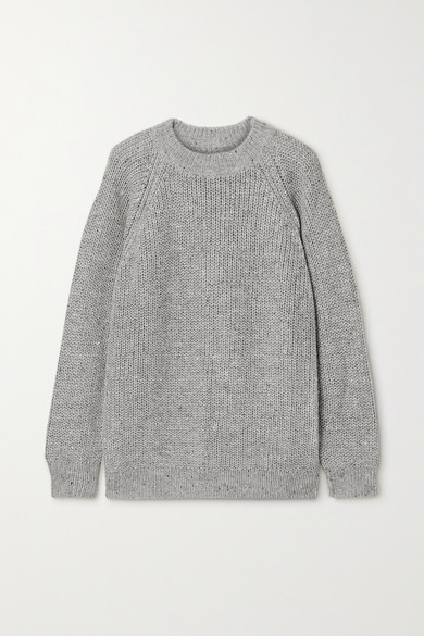 Lauren Manoogian Shaker Knitted Sweater In Light Gray