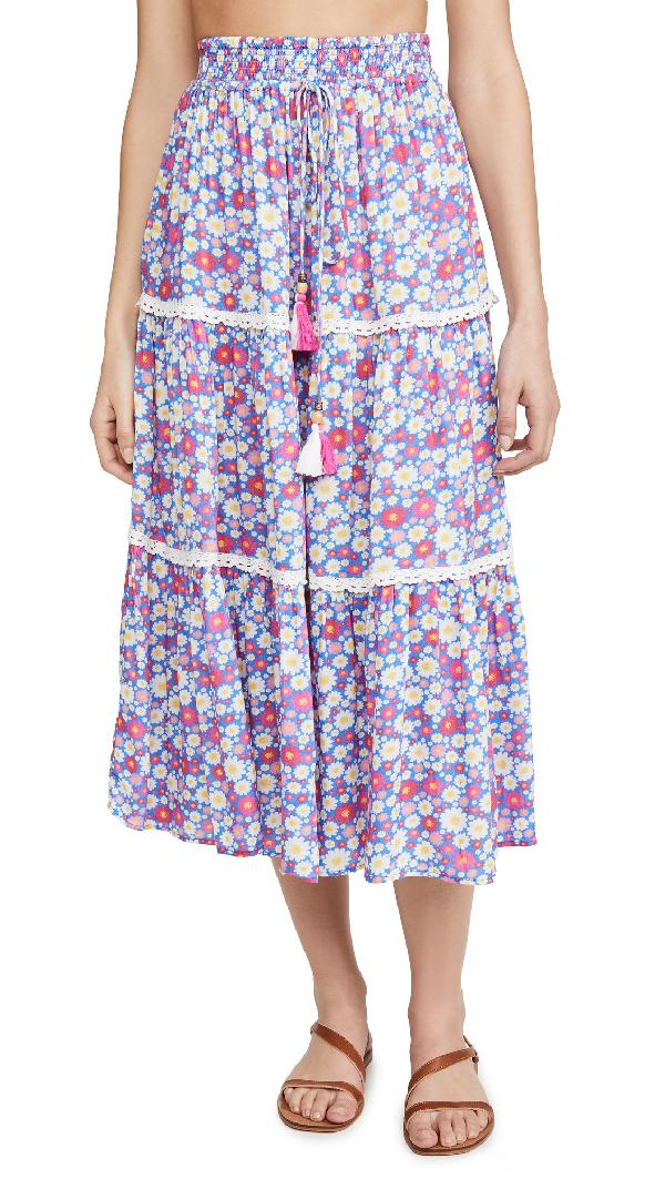Playa Lucila Printed Skirt In Purple Multi