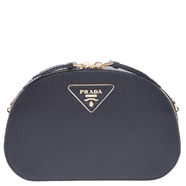Prada Black Saffiano Leather Odette Belt Bag