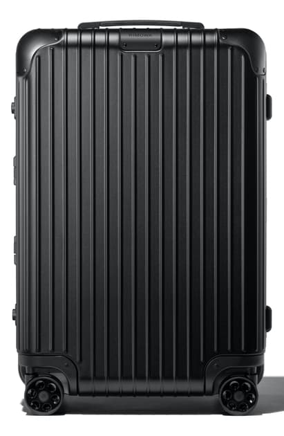 Rimowa Hybrid 26-inch Rolling Suitcase In Matte All Black
