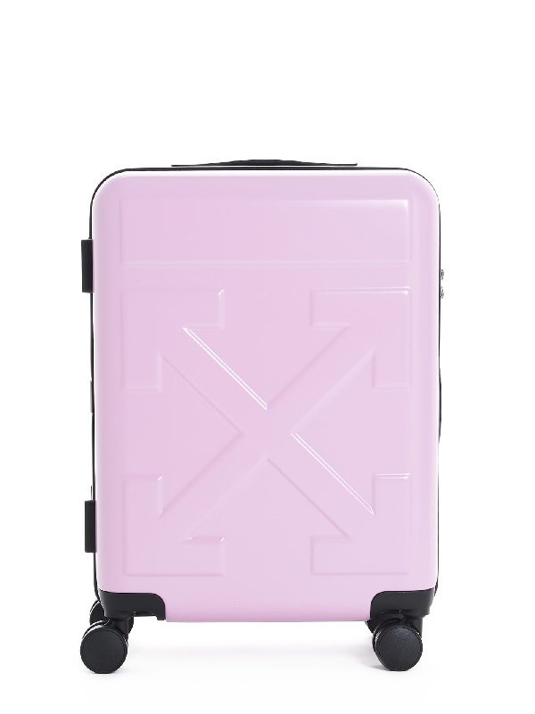 Off-white Arrow Logo Rolling Luggage Light Pink