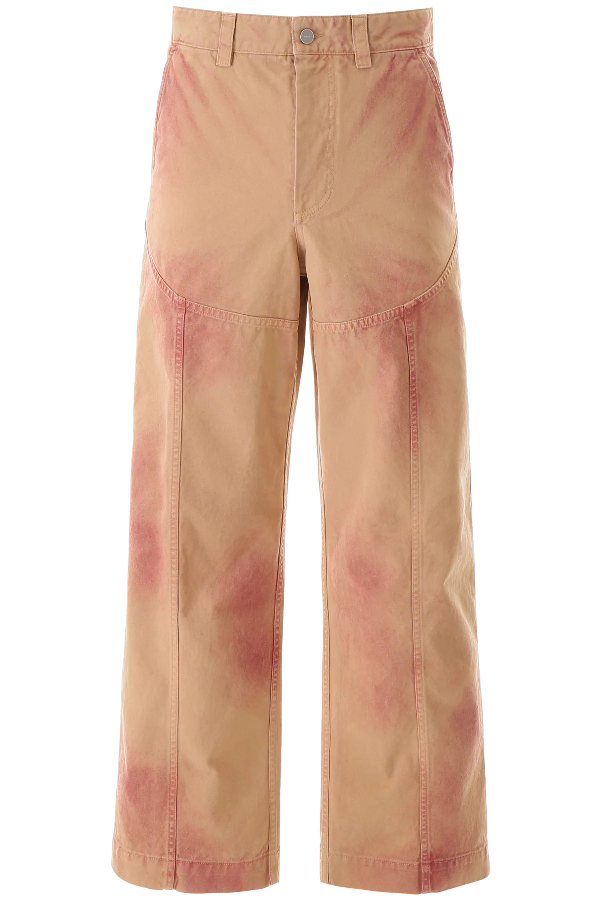 Jacquemus Terraio Pants In Beige,pink