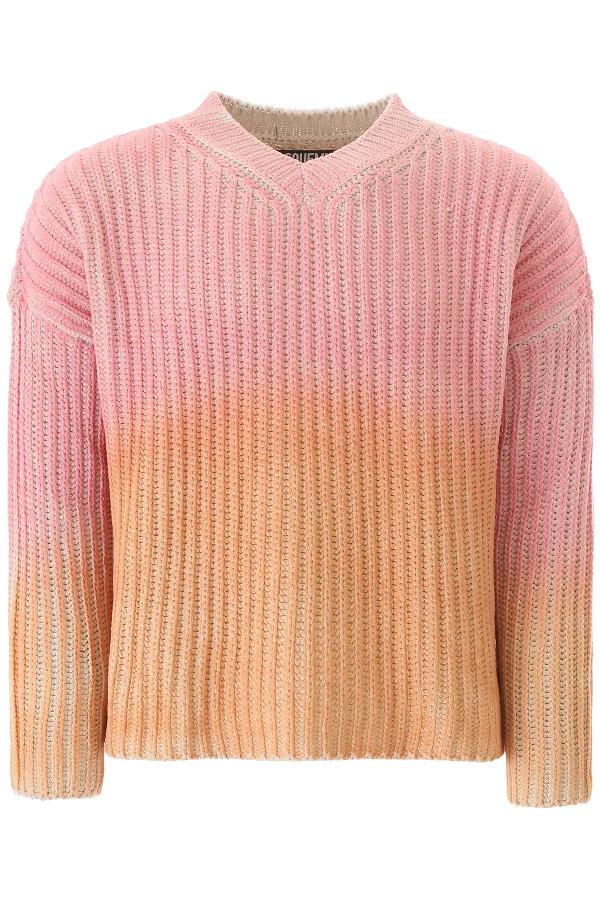 Jacquemus Pull Soleil In Cotone Sfumato In Pink