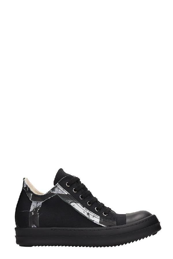 Drkshdw Low Sneaks Sneakers In Black Tech/synthetic