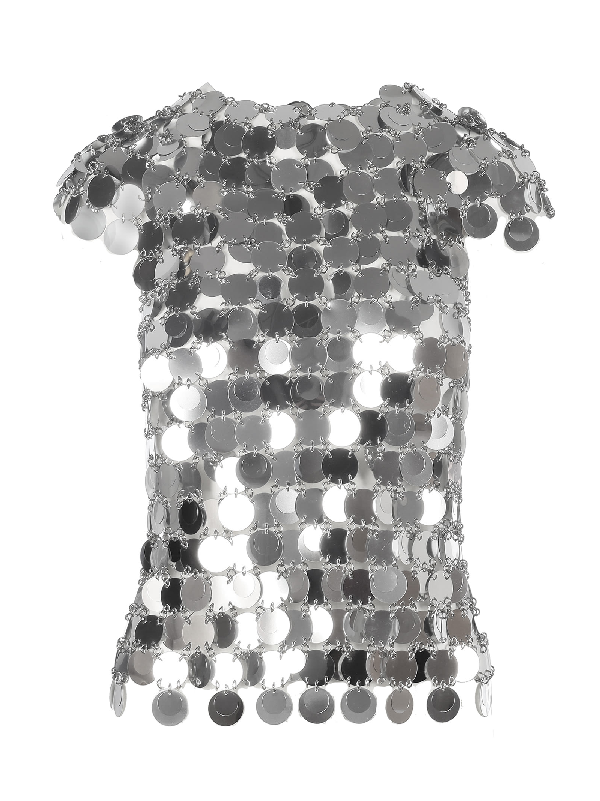 Paco Rabanne Plastic Paillettes In Silver