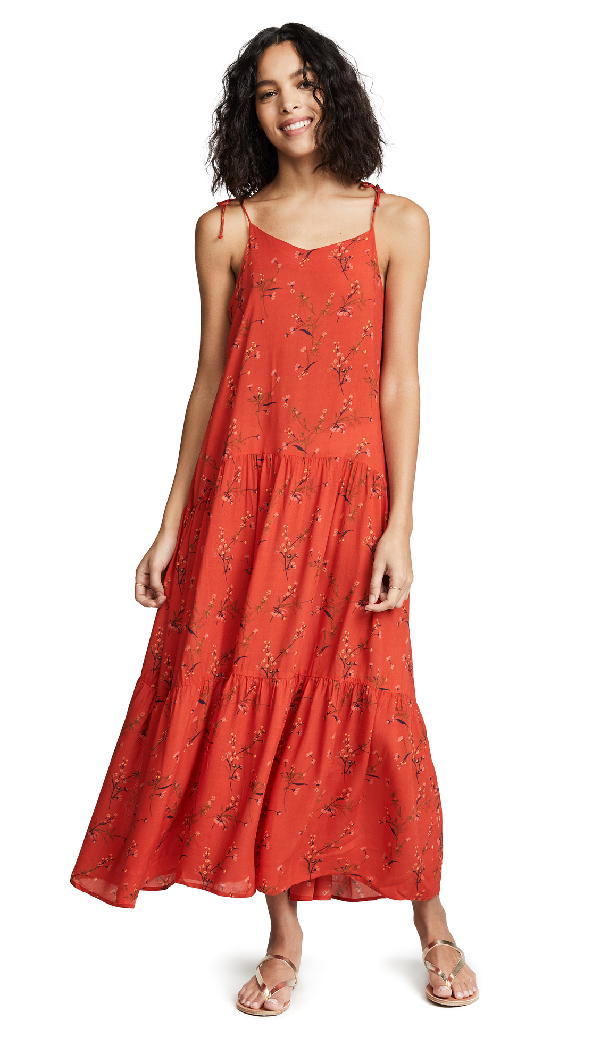 Playa Lucila Sleeveless Dress In Red Floral