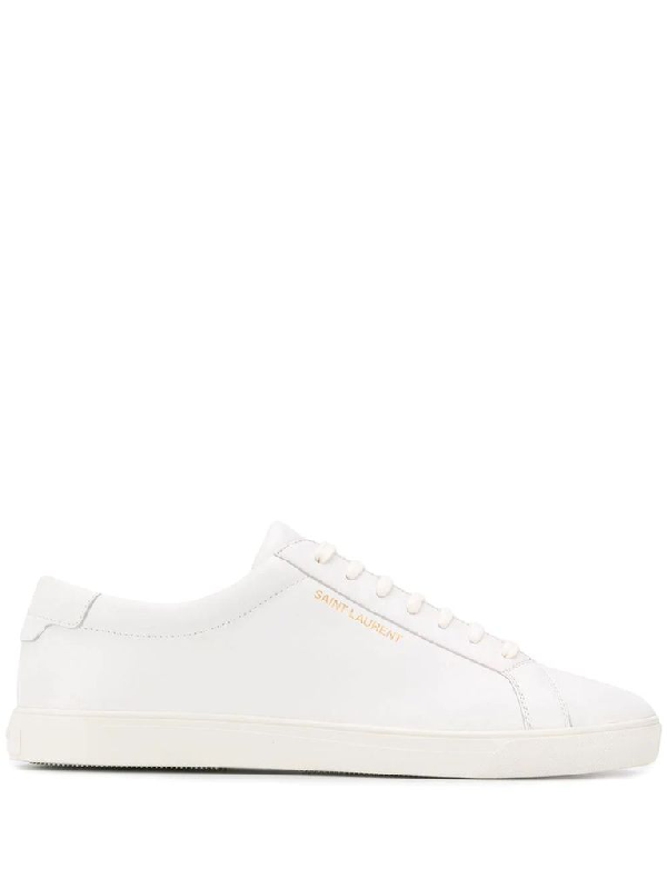 Saint Laurent Low-top Sneakers Sl/01 Calfskin Logo White