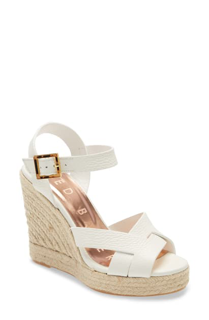 Ted Baker Sellana Sandal In White Leather