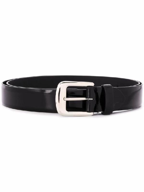 Maison Margiela Patent Leather Belt In Black