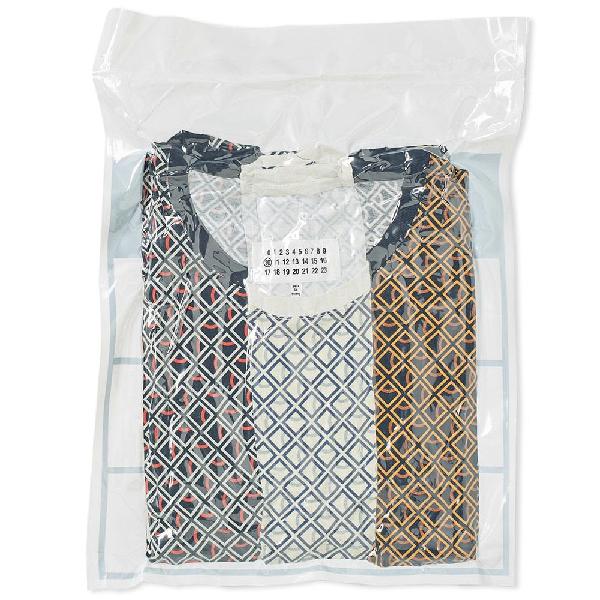 Maison Margiela 10 Basic T-shirt 3 Pack Checkered In Multi Coloured