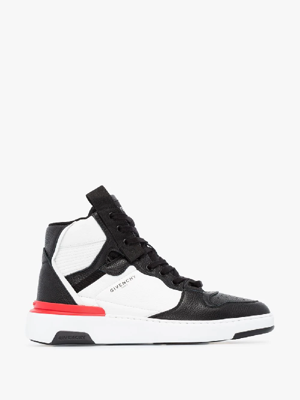 Givenchy Black And White Wing High Top Sneakers
