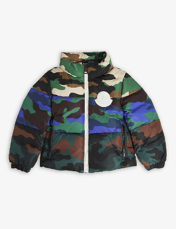 Moncler Kids' Marchaud Camo Water Resistant Down Insulated Jacket