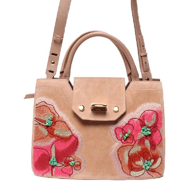 Jimmy Choo Pink Suede Leather Shoulder Bag