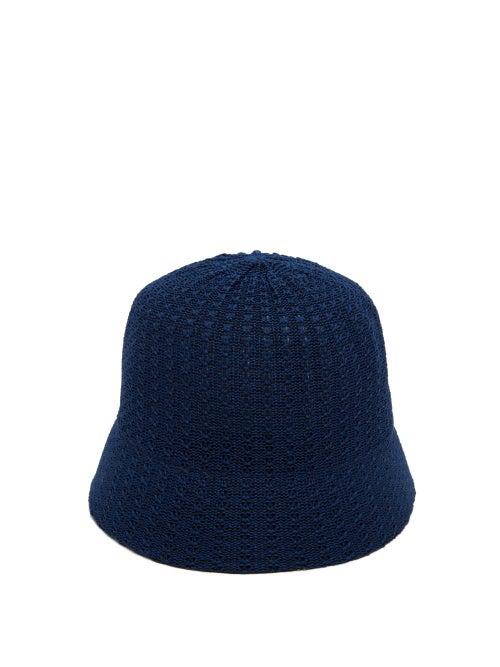 Reinhard Plank Hats Mucin Termo Knitted-cotton Bucket Hat In Navy