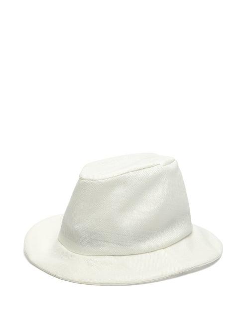 Reinhard Plank Hats Patel Woven Panama Hat In White