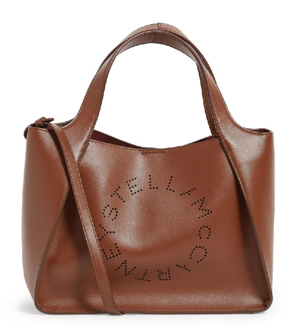 Stella Mccartney Stella Logo Tote Bag In Brown