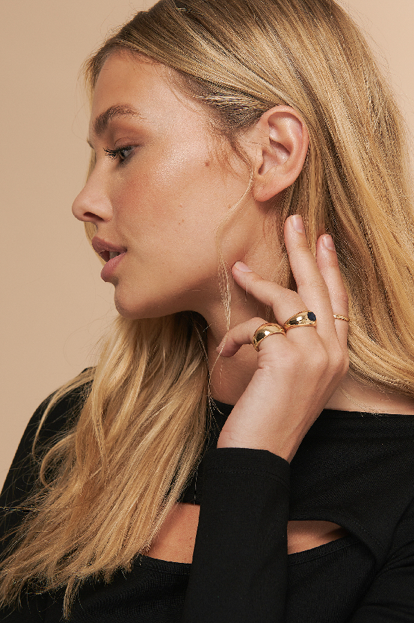 Misslisibell X Na-kd 4 In 1 Chunky Rings Gold