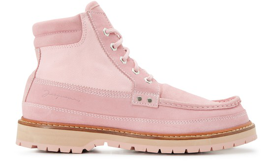 Jacquemus Pink Les Chaussures Garrigue Suede Ankle Boots