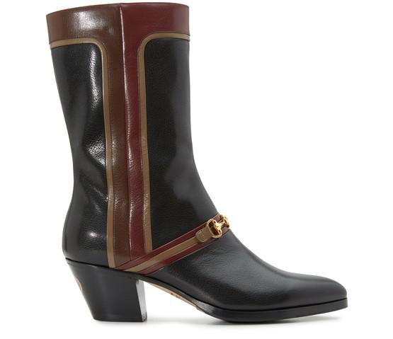 Gucci Men's Boot With Interlocking G Horsebit In Black