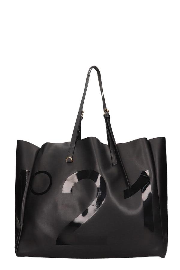 N°21 Tote In Black Leather
