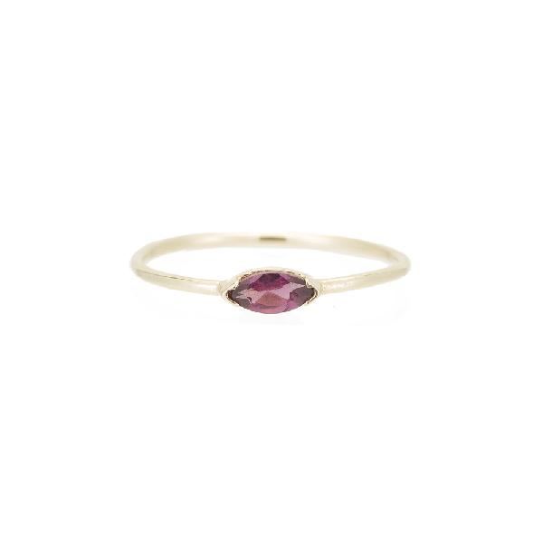 Ariel Gordon Jewelry Marquis Wink Ring In Yellow Gold/rhodolite Garnet