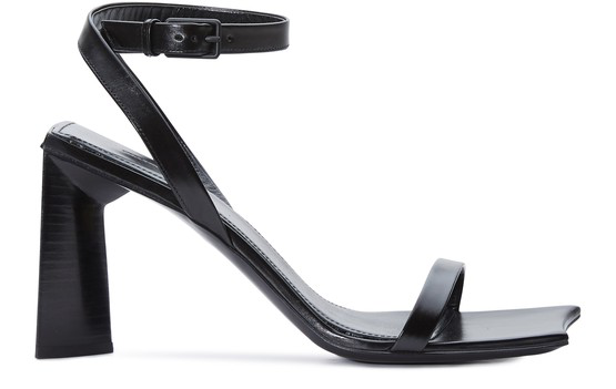 Balenciaga Moon 90 Leather Block Heel Sandals In 1000 Black