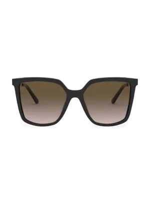 Tory Burch Square 55mm Gradient Sunglasses In Black