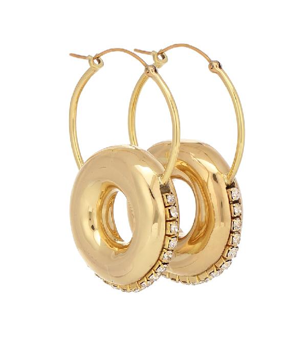 Ellery Infinity Embellished Hoop Earrings In Gold