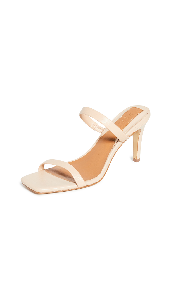 Jaggar Two Strap Leather Heel In Ivory Cream